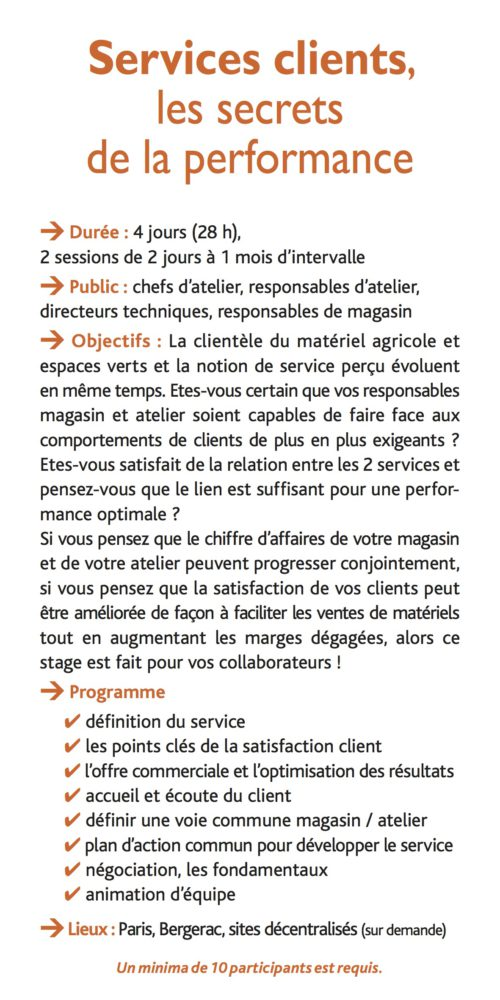Services clients, les secrets de la performance